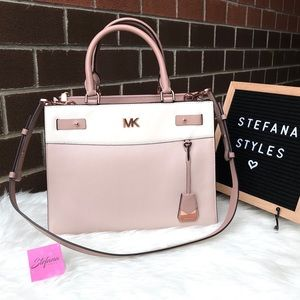 Michael Kors Reagan Large Fawn & Rose Gold Tote